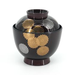 Japanese bowl with lacquered effect lid - PATANKABA