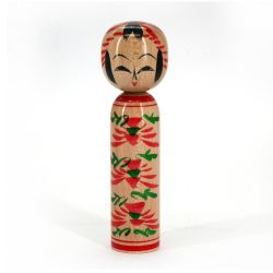 Japanese wooden Kokeshi doll - MICHINOKU - Design of your choice
