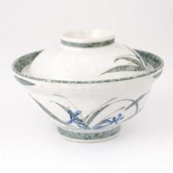 Japanese black carp ceramic bowl - MENBACHI CARP