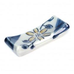 White ceramic flower bowl for tea ceremony - MOMIJI