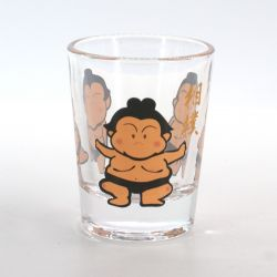 shot glass with pictures  COMIC SUMO