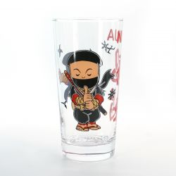 tumbler glass with pictures  COMIC NINJA