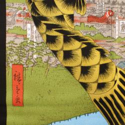 Japanese soliflore vase, beige and brown circles - SAKURU