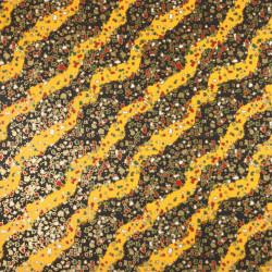 Cuenco suribachi japonés pequeño de líneas cerámicas, azul y blanco - GYO