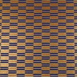 Japanese square ceramic plate, black with gold center - MOMIJI