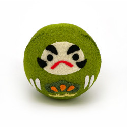 Green okiagari daruma doll...