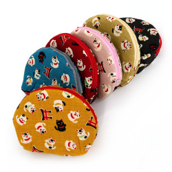 Small cotton cat pouch -...