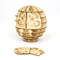 Puzzle wooden art Daruma,...