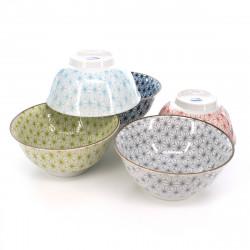 Japanese wooden Kokeshi doll for little girl with koi carp pattern - OCHAME