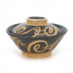Japanese Kokeshi doll in wood ribbon - RIBBON
