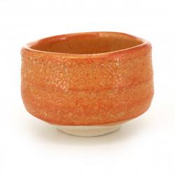 Japanese white pink yellow and blue bowl quartet in imitation wood resin - KYOGATA - 10.7cm