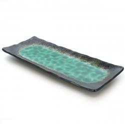 Black resin storage box with Japanese crane motif - SHOKAKU - 18.5cm